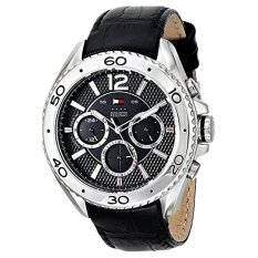 Tommy Hilfiger Men's 1791029 Stainless Steel Watch With Black Leather Band - Intl
