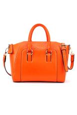 Toprank Leather Lady Handbag Shoulder Bag Tote 6 Purse Women Messenger Bag (Pink)