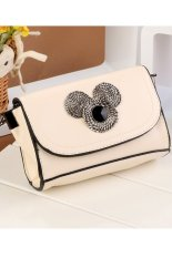 Toprank Women Fashion Bags Designer Handbags Leather Cowhide Handbag Women's Pu Leather Day Clutch Shoulder Bags (White)
