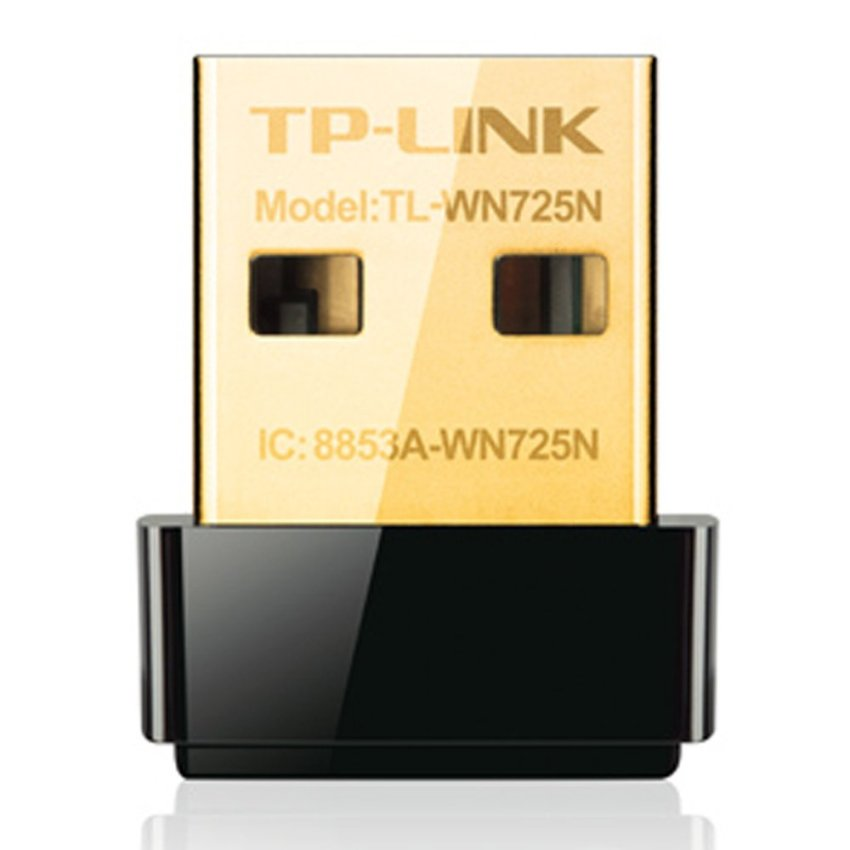 TP-LINK Nano USB Wireless Adapter 150 Mbps TL-WN725N - Hitam
