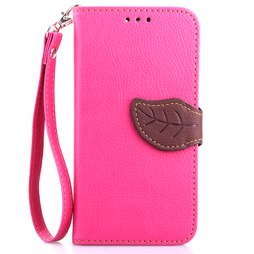 TPU Flip Leather Wallet Cover with Card Slot Holder for Samsung Galaxy S6 (Pink) (Intl)