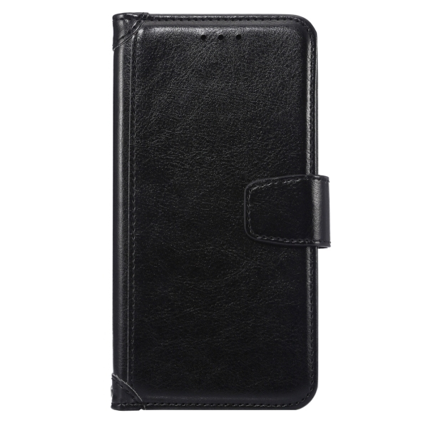 TPU PU Flip Leather Cross Texture Horizontal Cover with Card Slots Wallet Holder for Google Nexus 5X (Black) (Intl)