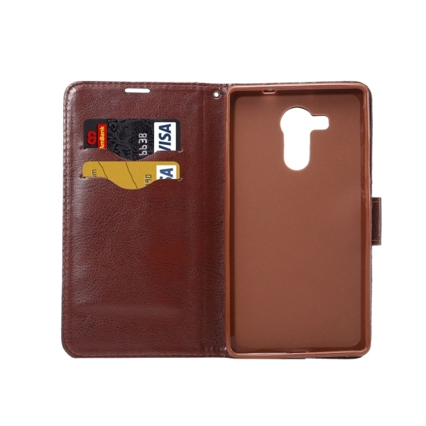 TPU PU Flip Leather Cross Texture Horizontal Cover with Card Slots Wallet Holder for Huawei Ascend Mate 8 (Dark Blue) (Intl)