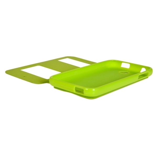 TPU PU Flip Leather Horizontal Cover with Card Slots Wallet Holder for HTC Desire 510 (Green) (Intl)