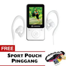 Transcend MP3 Fitness Recorder Player MP71.8GB - Putih + Gratis Trend's Sport Pouch Belt Tas Pinggang