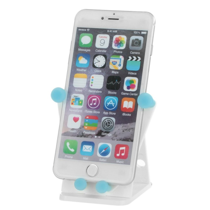 Trasan N07 Cute Smile Face Multifunctional Car Vehicle Foldable Phone Holder for iPhone 6 Plus / 6 and More (White) (Intl)