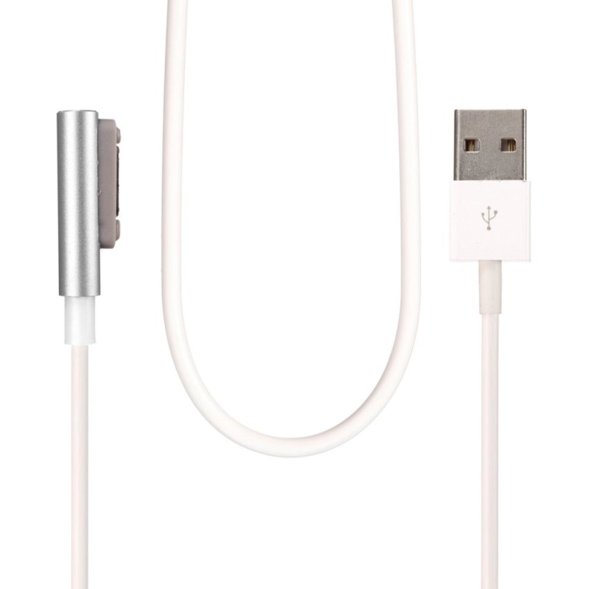 Trendy Magnetic Charging Cable W/LED For Sony Xperia Z3 L55t Z2 Z1 Compact XL39h Silver (Intl)
