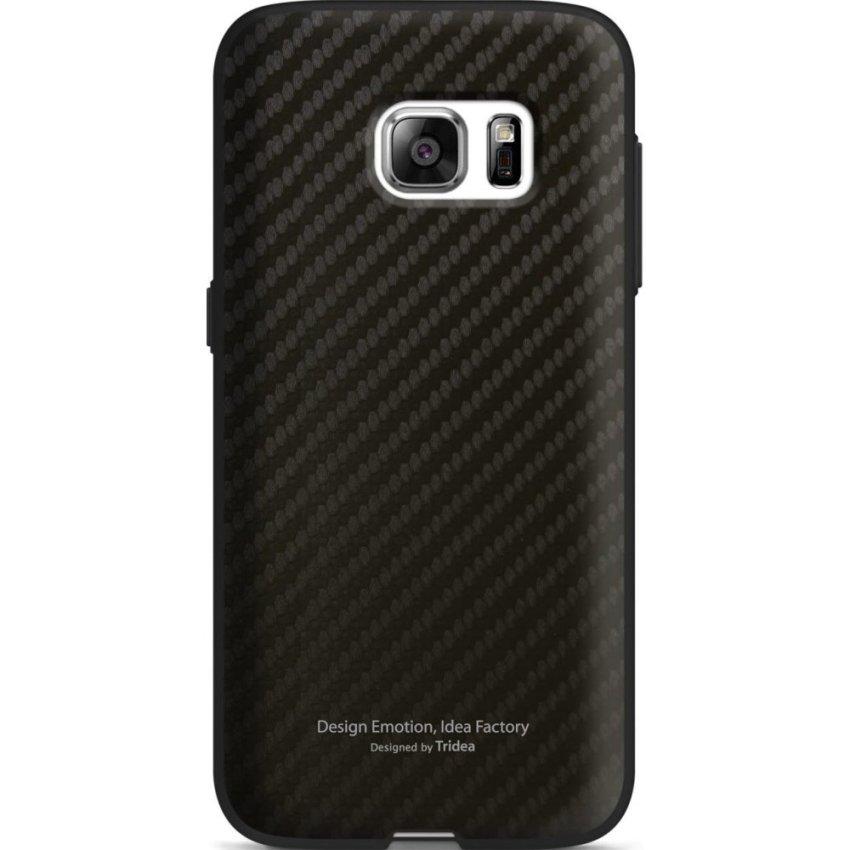 Tridea Galaxy S7 Edge Case Carbon Anti Shock - Hitam