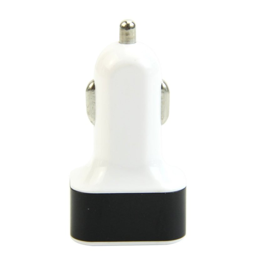 Triple USB Universal Car Charger Adapter 3 Port 1A 2A 2.1A For iPhone Samsung LG (White and Black)