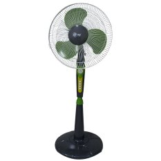 "Twin Dog 1602 Stand Fan 16"" - Abu-abu-Hijau"