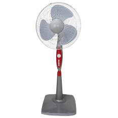 "Twin Dog 1605 Stand Fan 16"" - Abu-abu-Merah"