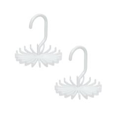 Twirl-a-Tie Tie Rack Organizer Hanger Pack Of 2 - Intl