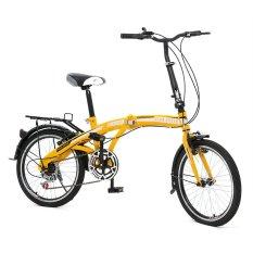 "Twist Folding Bike 6SP Sepeda Lipat 20"" - Kuning"
