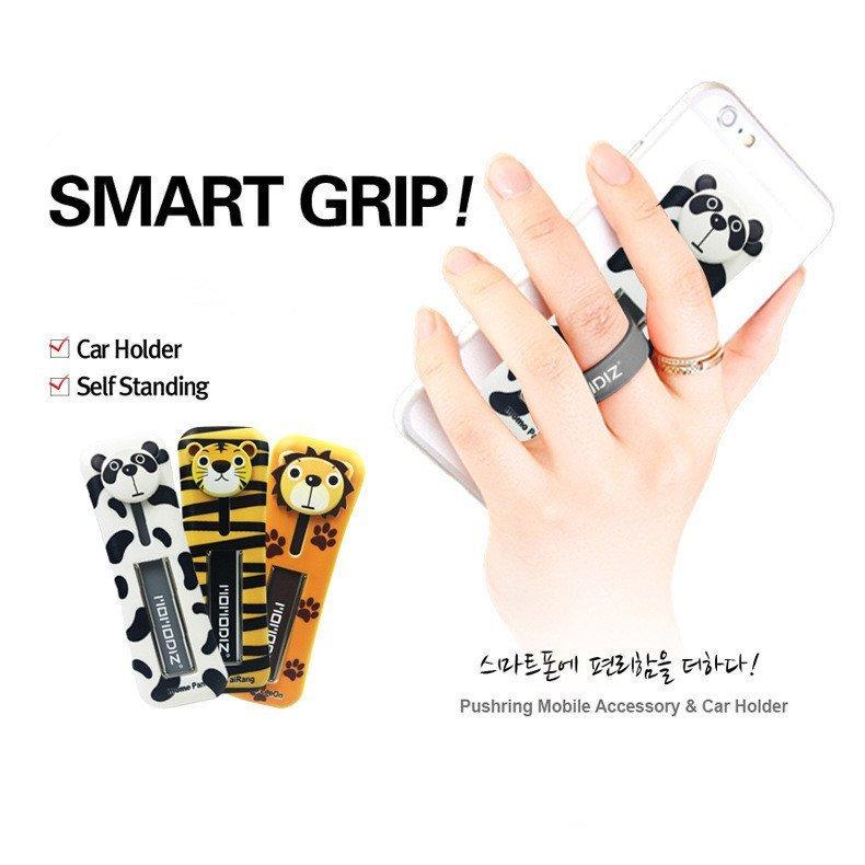U-shaped Phone Paste Silicone Smart Grip Car Cradle Holder Set for All Phone (Multicolor) (Intl)