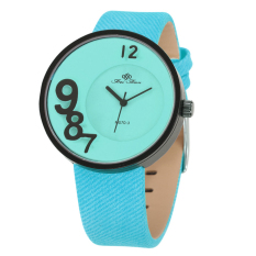 UINN Creative Unisex Funny Number Leather Strap Fashion Anolog Quartz Wrist Watch