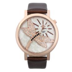 UINN Fashion Retro Dragonfly Dial Leather Band Quartz Analog Wrist Watches Watch