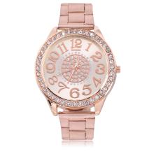 UINN Fashion Women Diamond Plated Stainless Steel Quartz Wrist Hour Dial Watch