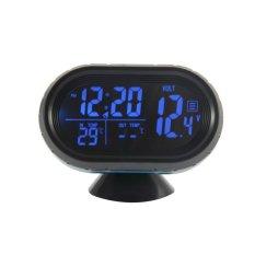 UJS 2 In 1 12V / 24V Digital Auto Car Thermometer + Car Battery Voltmeter Voltage Meter Tester Monitor + Electronic Clock Hot Sale (Intl)