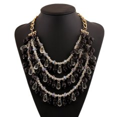 UJS Acrylic Color Necklace Female Fashion Accessories (Intl)