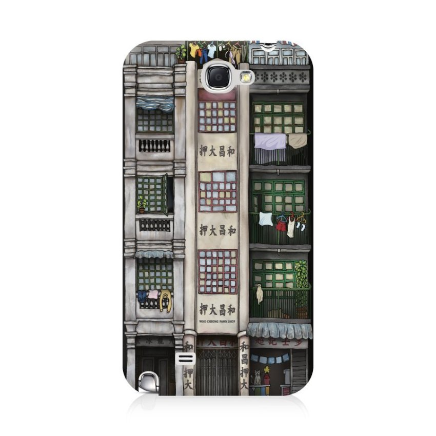 Ultra Case Samsung Galaxy Note 2 Hard Case Hong Kong Style 01 Building