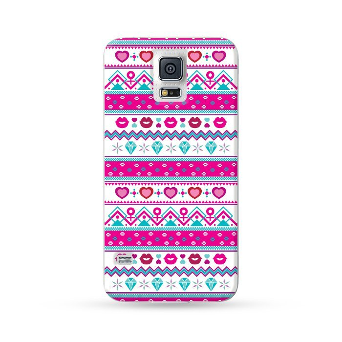 Ultra Case Samsung Galaxy S5 Hard Case Love Pattern Pink