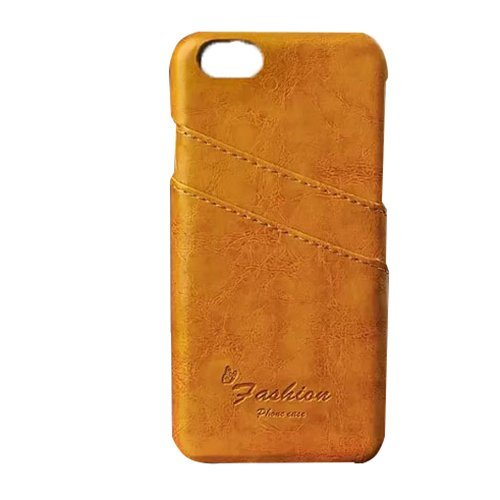 Ultra Slim Leather Back Case for iPhone 6 4.7 inch (Yellow) (Intl)