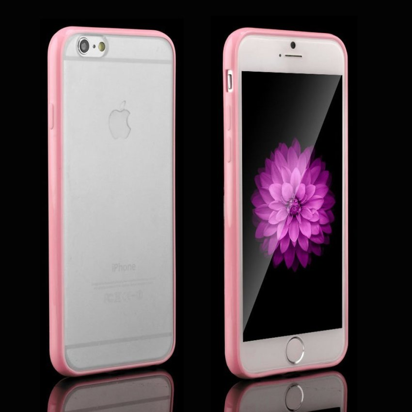 Ultra Thin Matte Transparent Crystal Hard Back Case for iPhone 6 6s (Pink) (Intl)