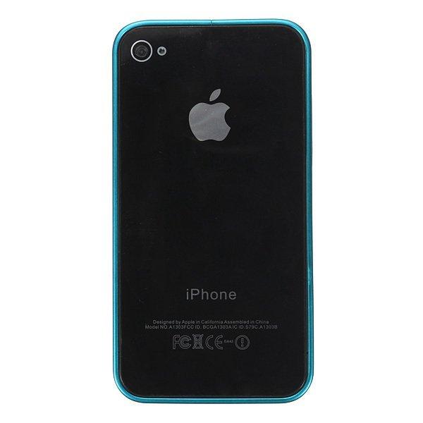 Ultra-thin Metal Aluminum Frame Bumper Hard Case for iPhone 4/4S/5/5S (Light blue) (Intl)