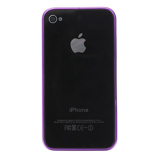 Ultra-thin Metal Aluminum Frame Bumper Hard Case for iPhone 4/4S/5/5S (Purple) (Intl)