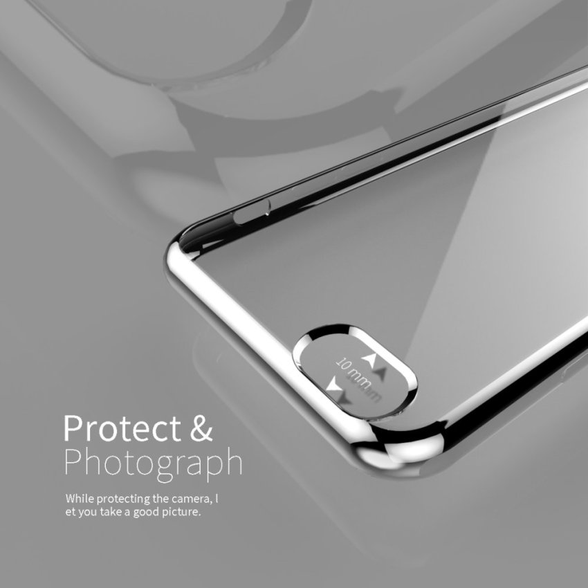 Ultra-thin Shockproof Sillicone TPU Metal Soft Case for Apple iPhone 6 6S Silver (Intl)
