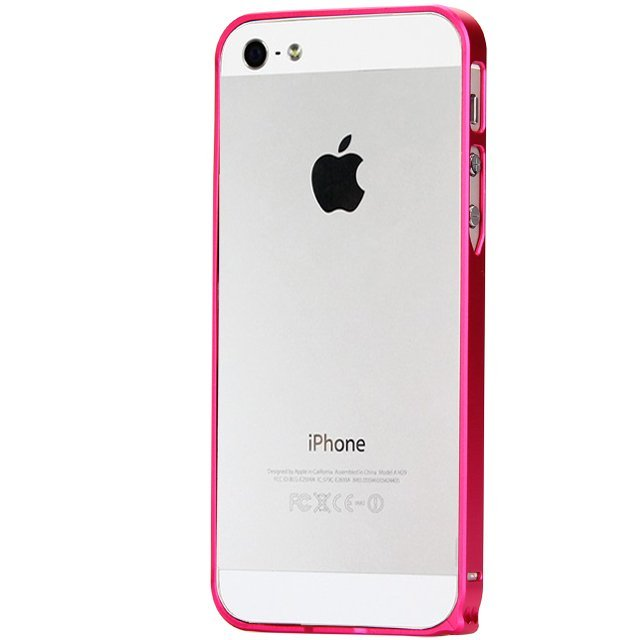 Ultra Thin Slim Aluminum Metal Bumper Case for iPhone SE / 5S / 5 Hot Pink