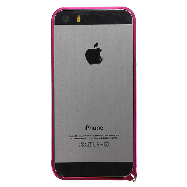 Ultra Thin Slim Aluminum Metal Frame Blade Bumper Case for iPhone 5 5s (Rose Red) (Intl)
