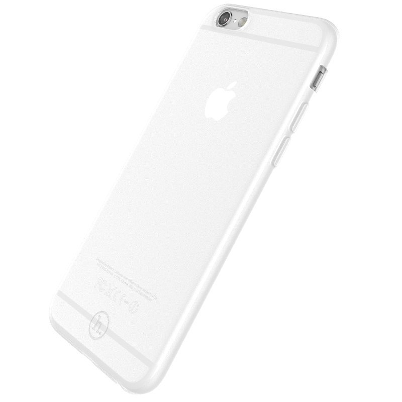Ultra Thin Slim Matte frosting Transparent Protective Cover Case for iPhone 6 plus/6s plus 5.5 Moblie Phone Shell/Cases Transparent + white (Intl)