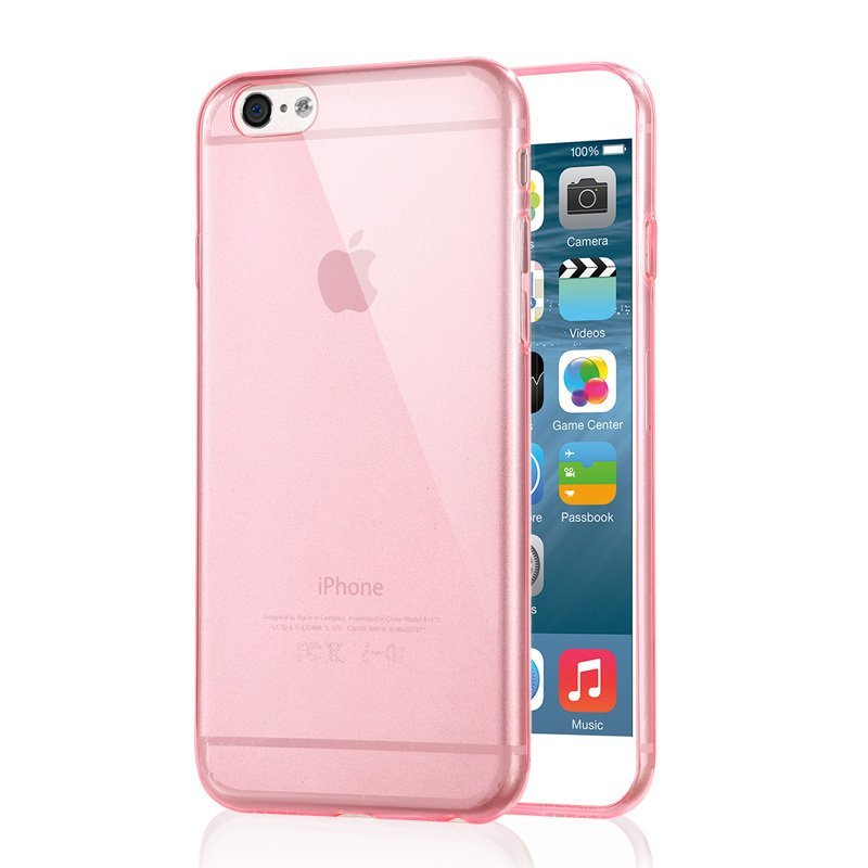 Ultra Thin Soft TPU Transparent Case for iPhone 6/6S/6S Pink (Intl)