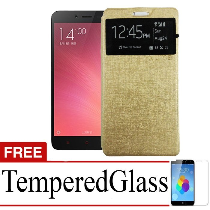 Uma Elegan Case for Infinix Hot Note X551 - Gold + Gratis Tempered Glass