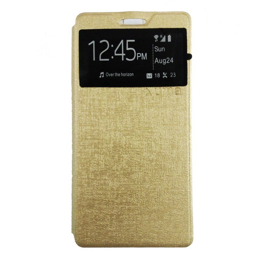 Ume Accessories Hp for Lenovo A7000 Flip Cover - Gold