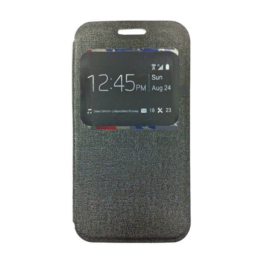 Ume Flip Cover For Samsung Galaxy J1 - Hitam