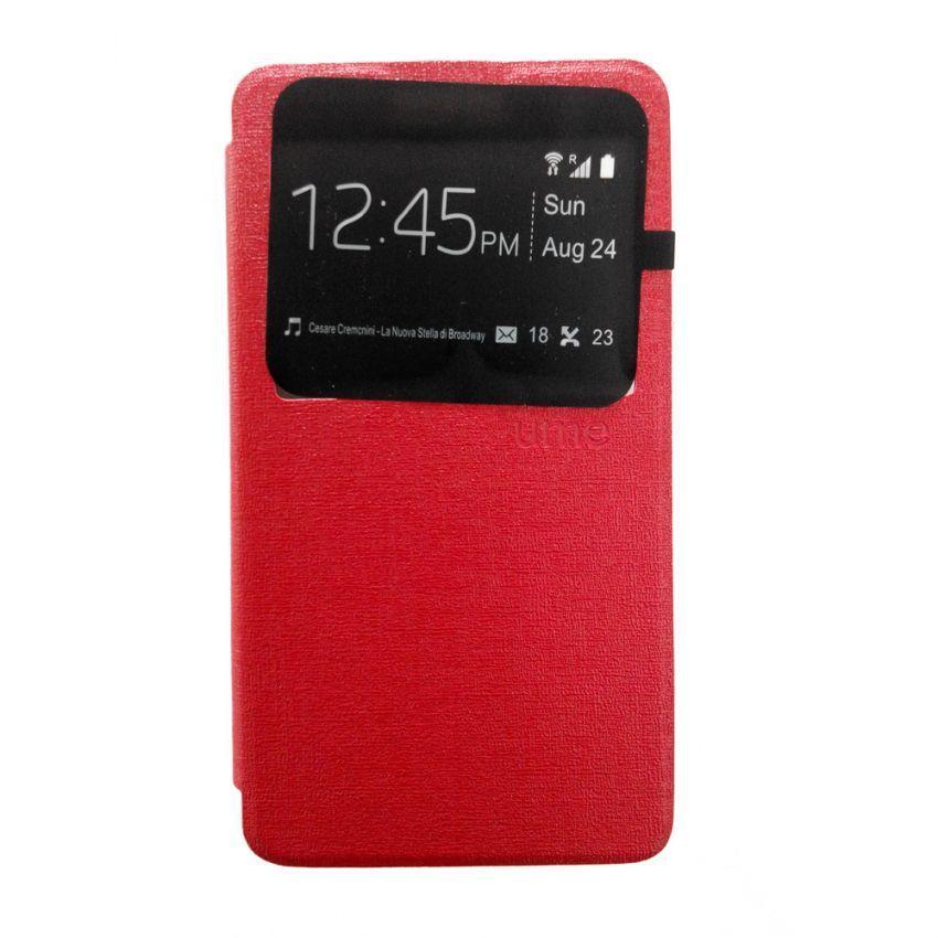 Ume Flip Cover Lenovo A536 - View Design - Merah