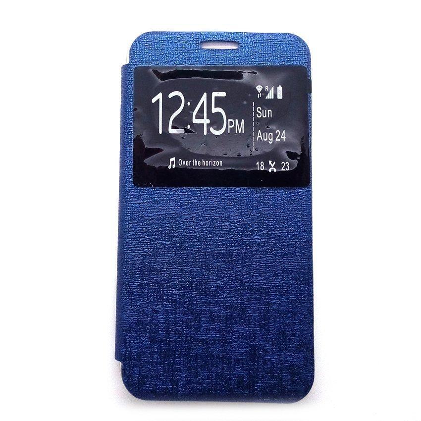 Ume Flip Cover Samsung A7 2016/A710- Biru Dongker
