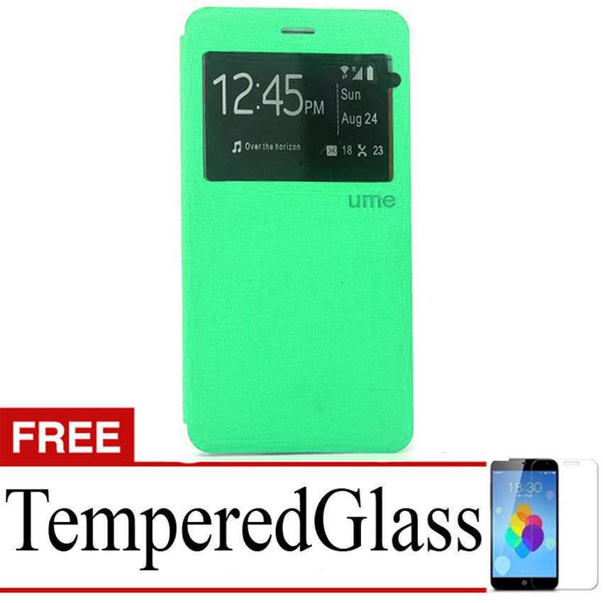 Ume flip Cover Sony Xperia Z5 Plus- Hijau Tosca + Gratis Tempered Glass