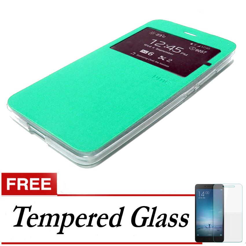 Ume Flip Cover untuk Asus Zenfone 2 ZE551ML - Hijau + Gratis Tempered Glass