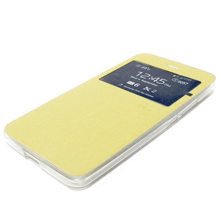 Ume Flip Cover untuk Asus Zenfone Zoom Zx550 - Emas + Gratis Tempered Glass