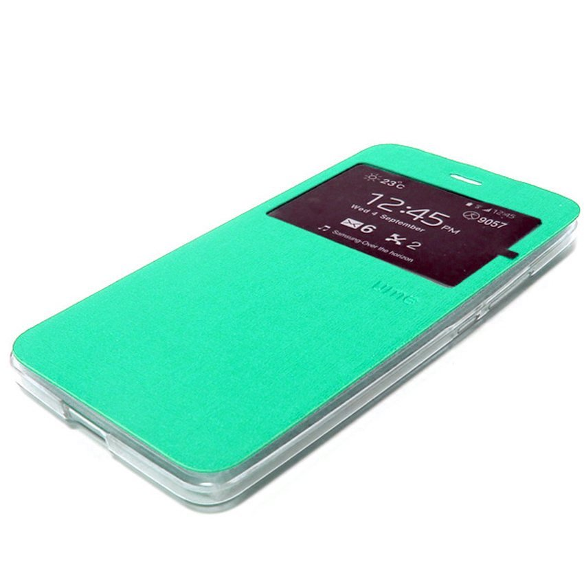 Ume Flip Cover Untuk Samsung A7 2016/A710- Hijau Tosca