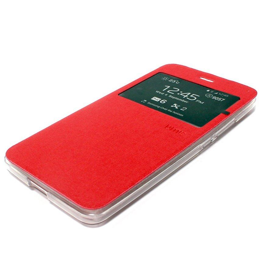 Ume Flip Cover untuk Xiaomi Mi4i - Merah + Gratis Tempered Glass