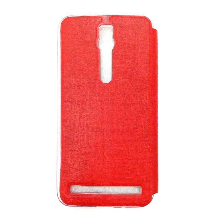 Ume Flip Cover View Asus Zenfone 2 ZE550ML/ZE551ML- Merah