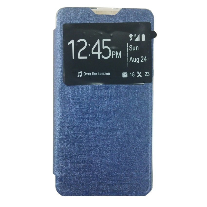 Ume Flip Cover View for Lenovo A536 - Biru Dongker