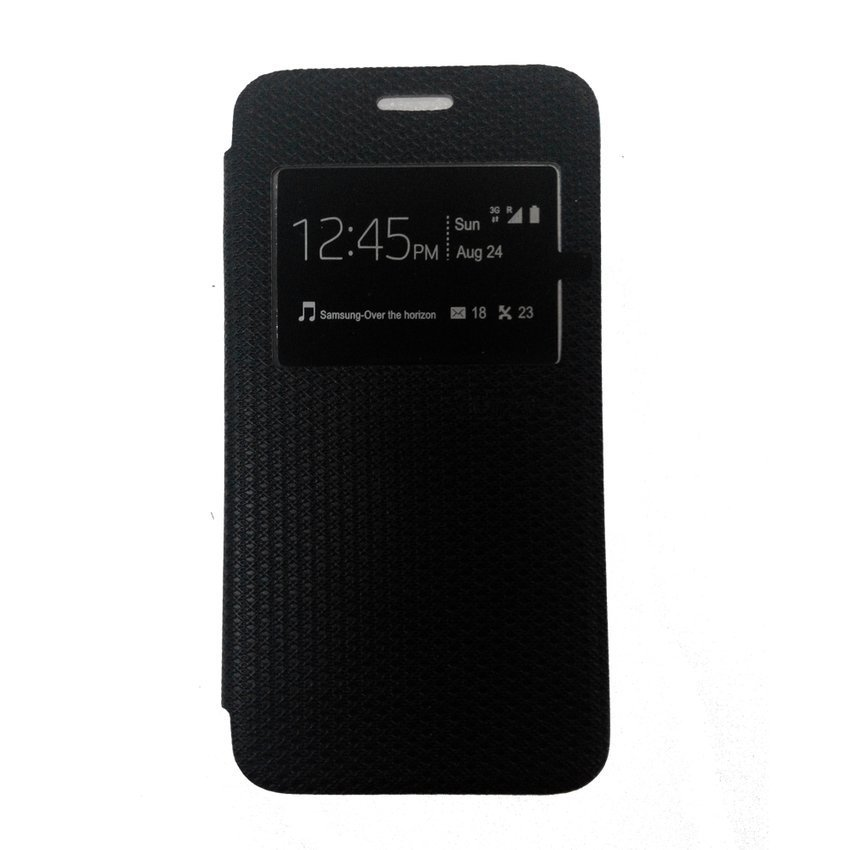Ume Flip Cover View for Samsung Galaxy A3 - Hitam