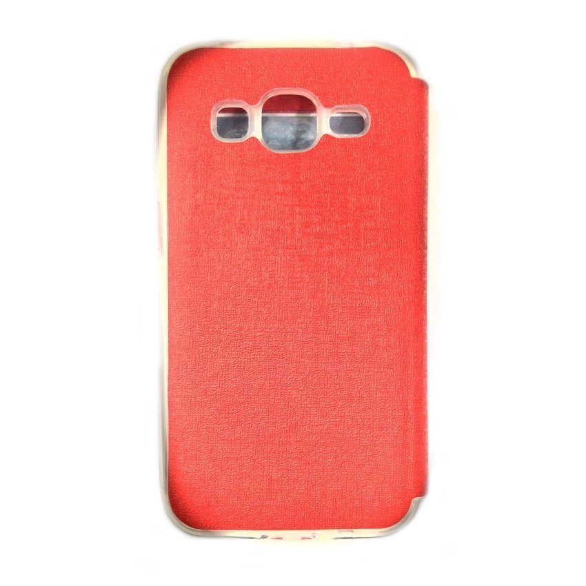 UME Flip Cover View for Samsung Galaxy J1 - Merah