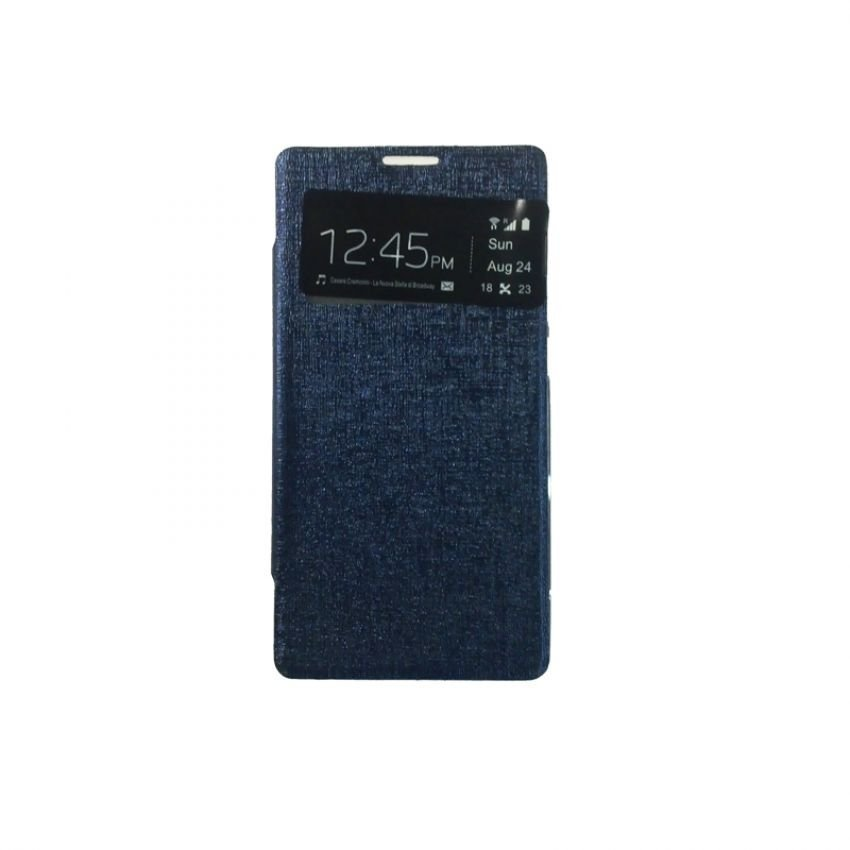 Ume Flip Cover View For Xiaomi Redmi 1S - Biru Tua