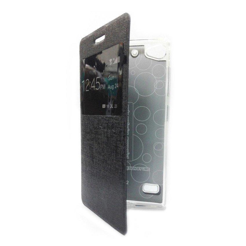 Ume Flip Cover View Lenovo Vibe X2 - Hitam